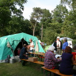 Tent and picknick table