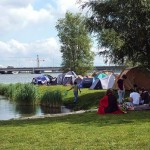Tents at the water