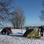 Tents in the winter