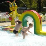 Playing in the kids pool