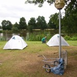 Tents at river